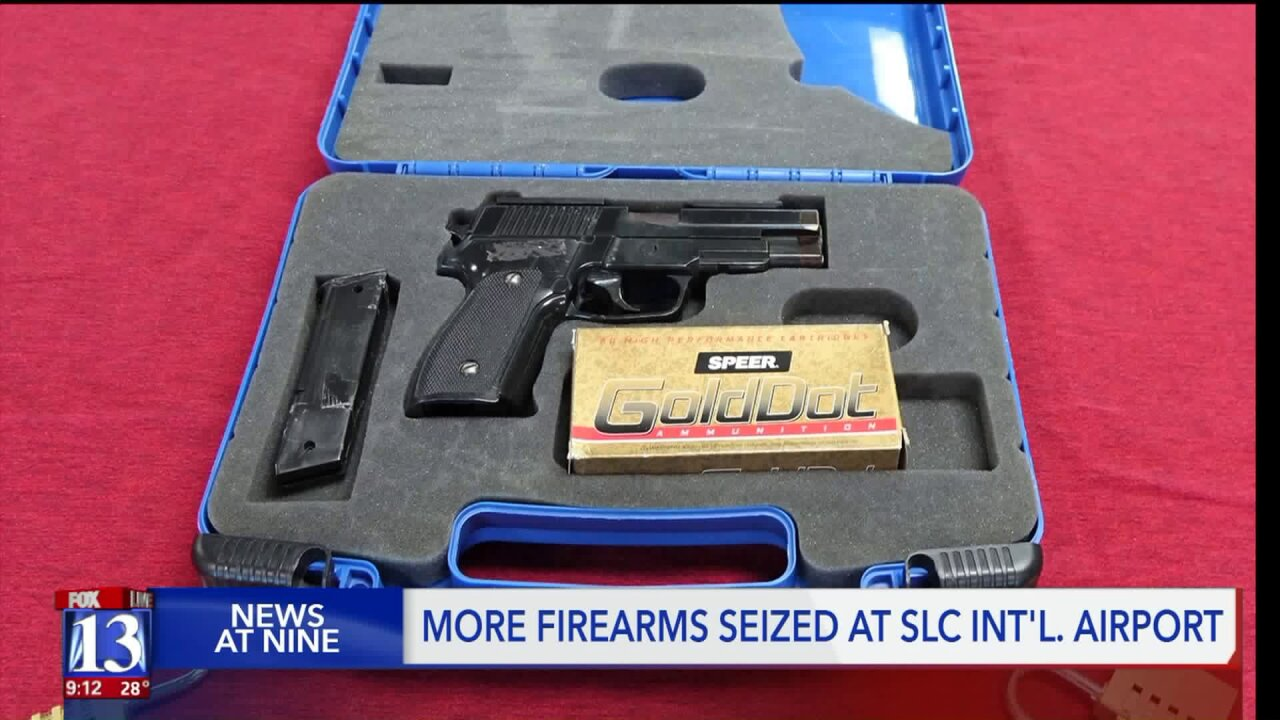 TSA: 16% spike in seized firearms at SLC Airport in 2019