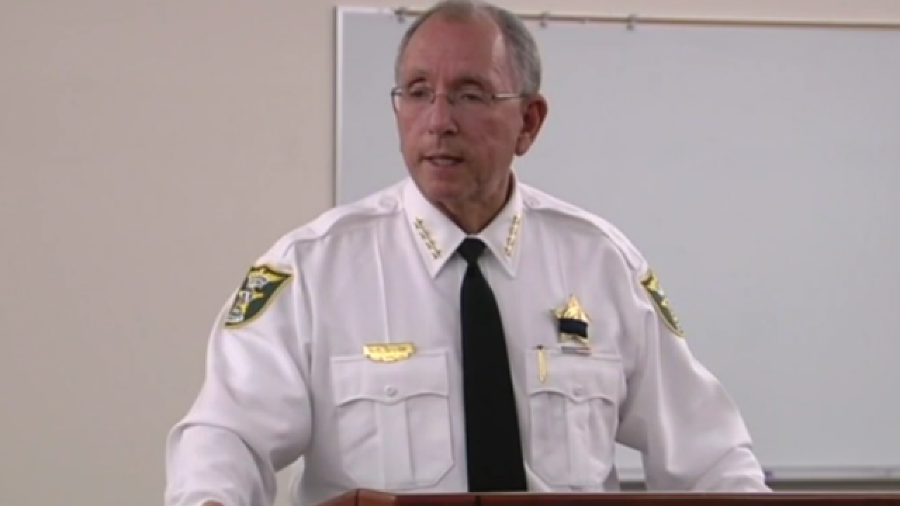 Martin County Sheriff William Snyder meets with parents, teachers to answer questions