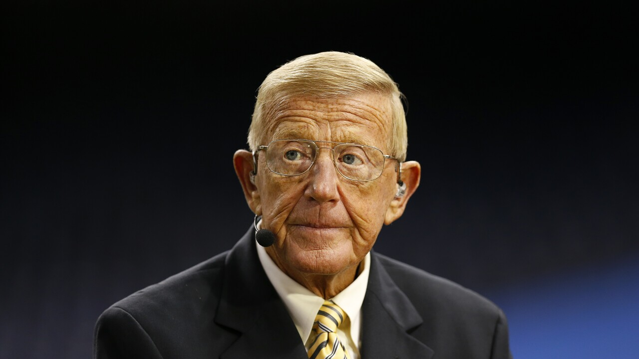 Former football coach Lou Holtz says he has COVID-19