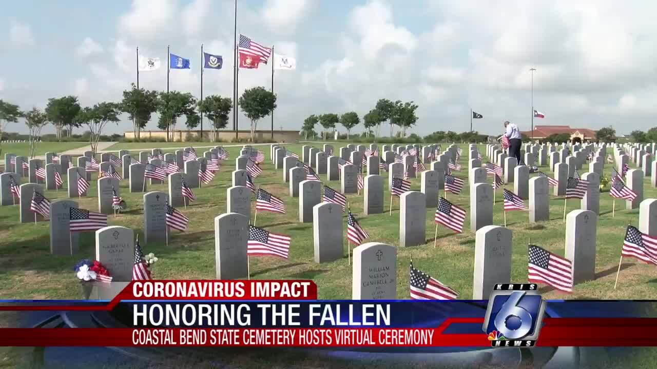 Memorial Day remembrance at Coastal Bend State Cemetery canceled