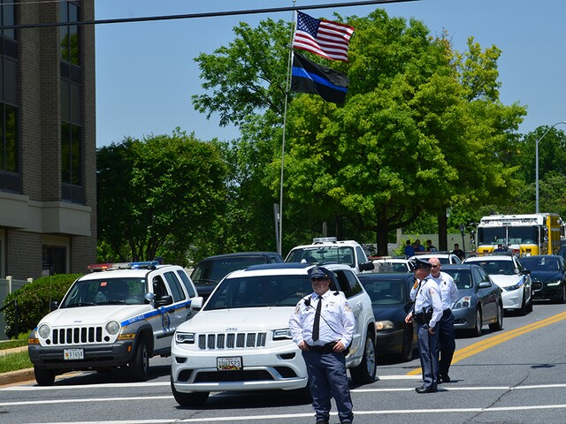 Community comes out for Officer Caprio's funeral procession