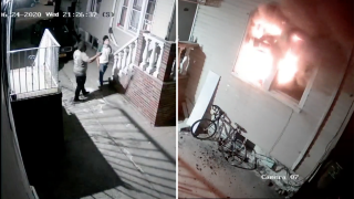 Man charged with arson continued to set off fireworks as Brooklyn home burned, video shows