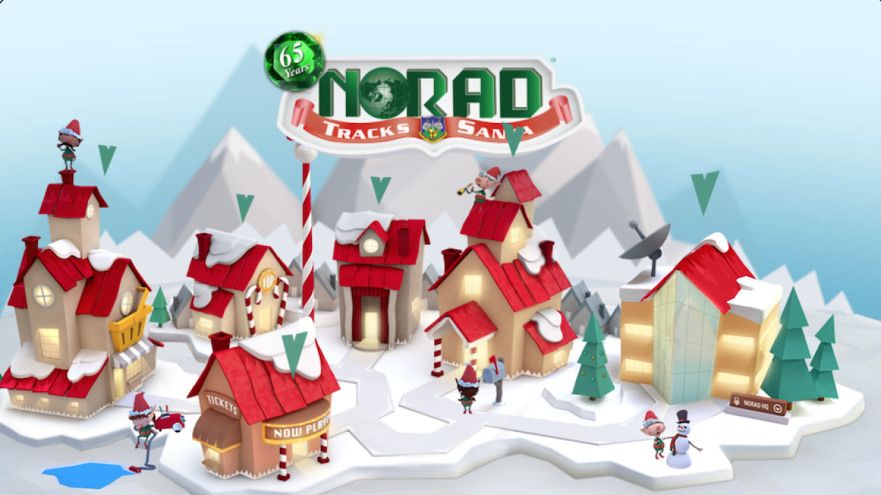 NORAD launches new Santa-tracking website, which includes holiday-themed games and video