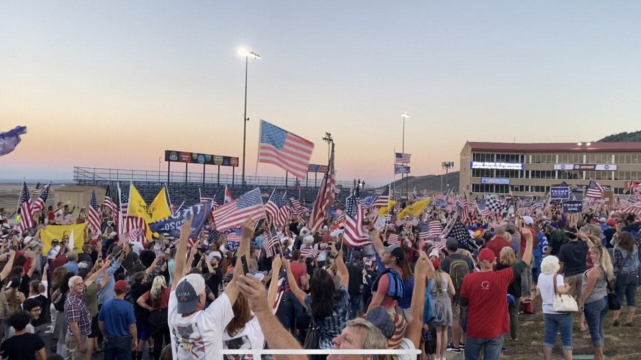 Thousands pack Colorado speedway against county orders for rally against COVID-19 restrictions