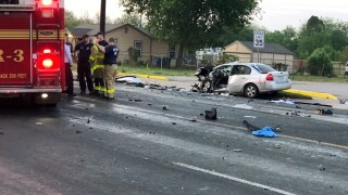 Major crash shuts down traffic at busy intersection