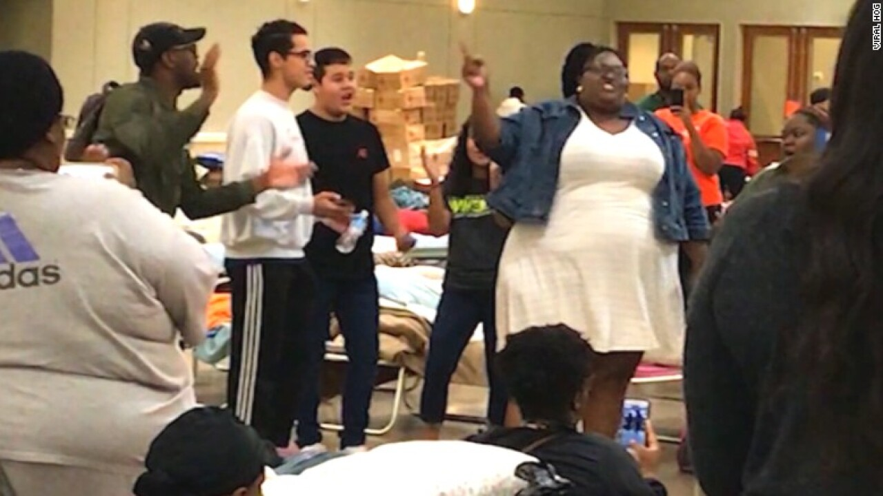 This woman singing at Hurricane Harvey shelter will give youchills