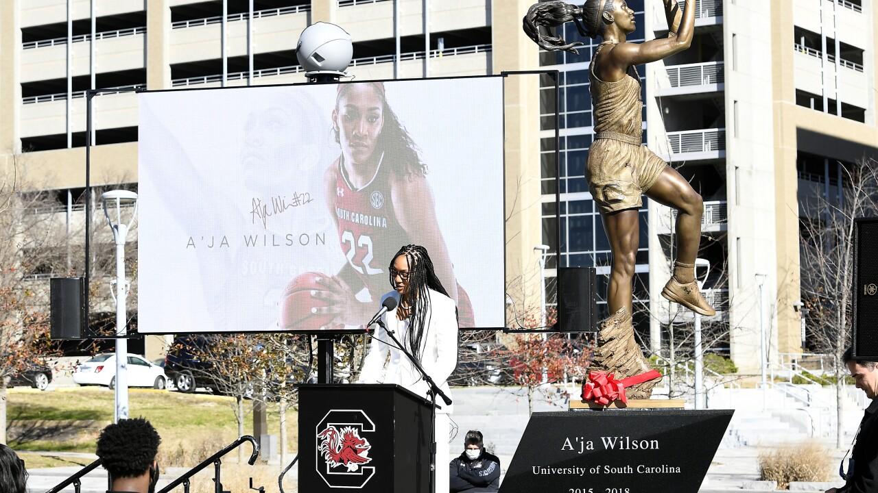 a'ja wilson statue2