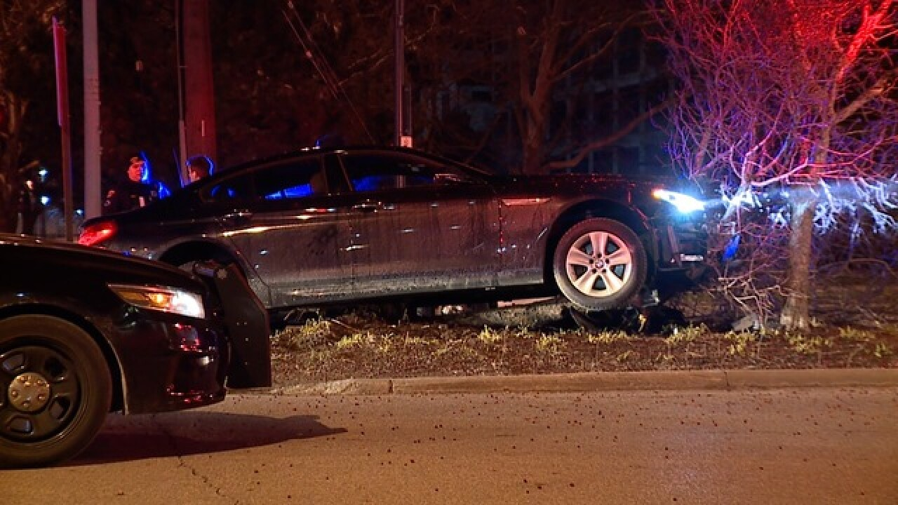 Driver of BMW crashes into tree near CSU