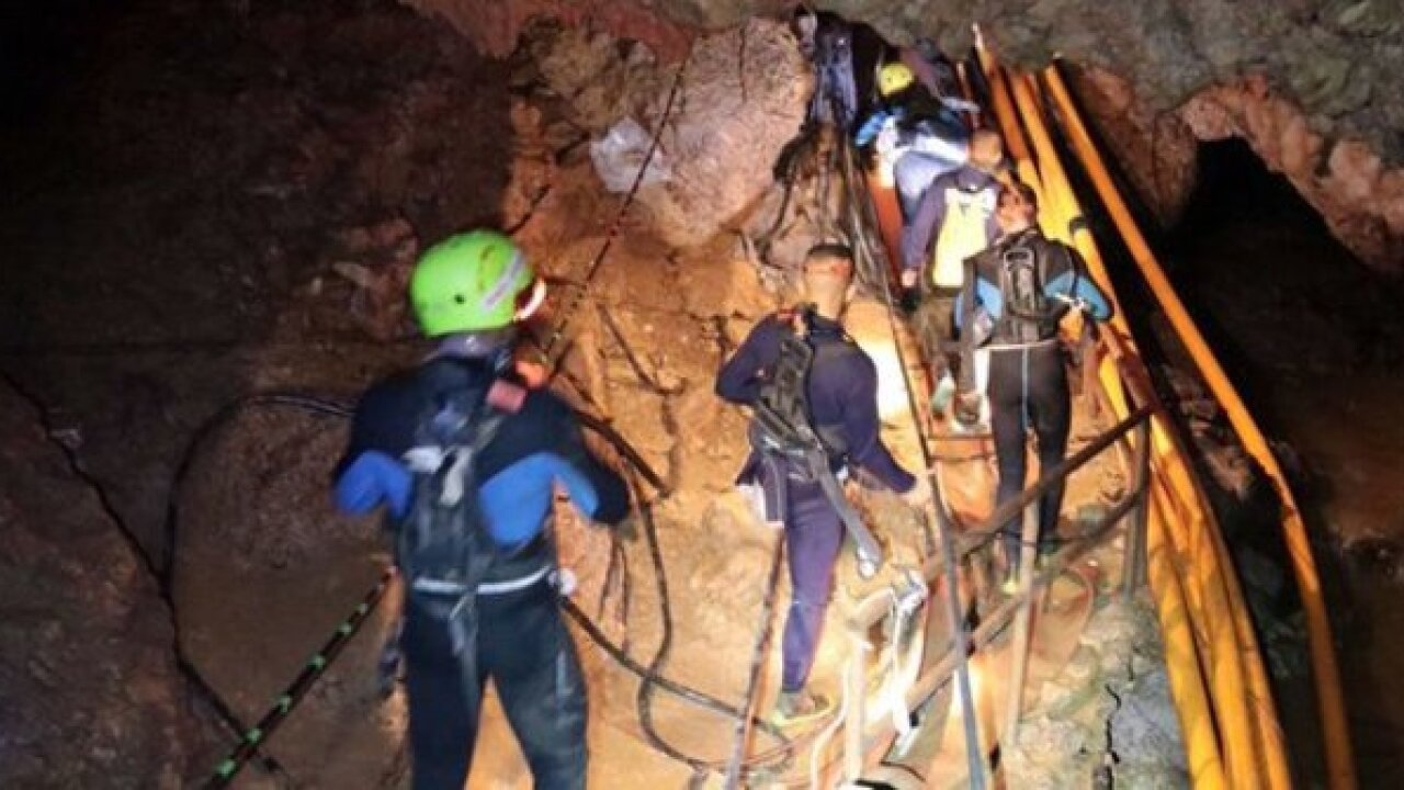 Thai officials clear media as cave rescue seems imminent