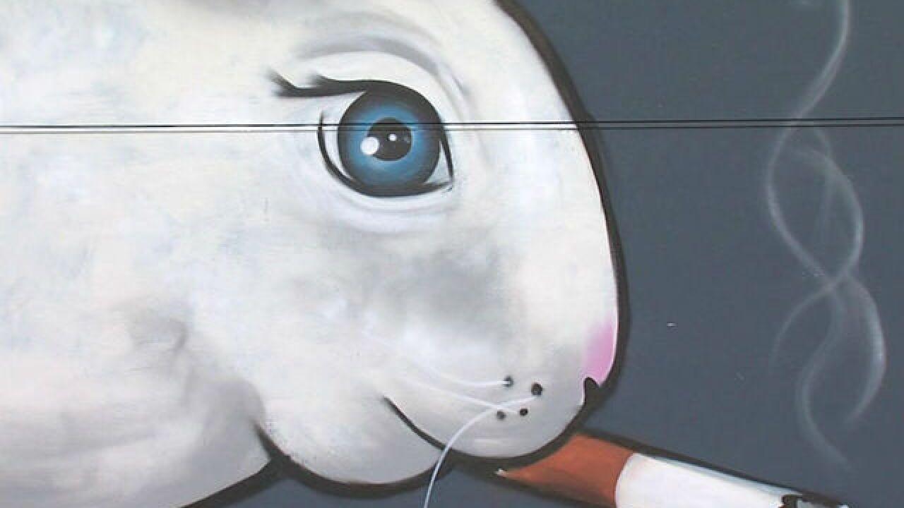 Mural on east side would make Thumper blush