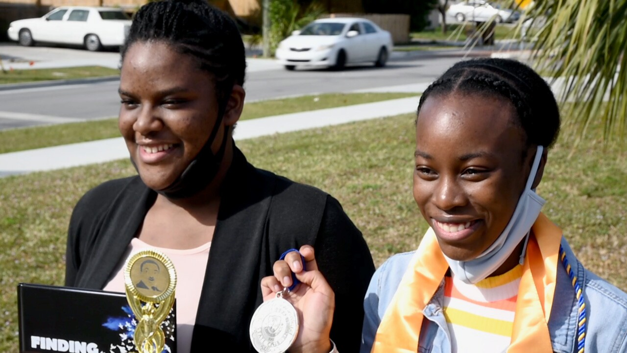Many Americans watching today's Inauguration saw themselves reflected in the new Vice President, including sisters Brianna Dwyer and Kristacia Spence of Palm Beach County.