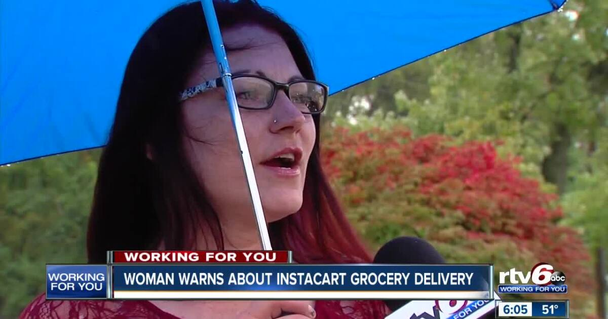 Woman who used grocery delivery app gets unwelcome surprise