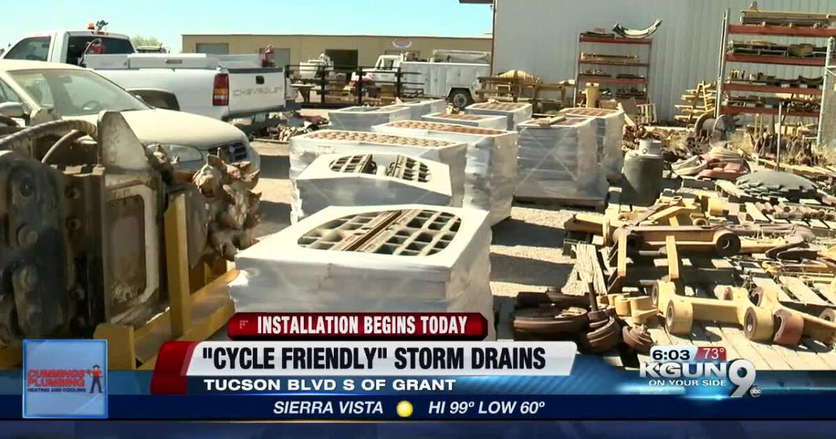 Different style of storm drain to be installed on Tucson Blvd