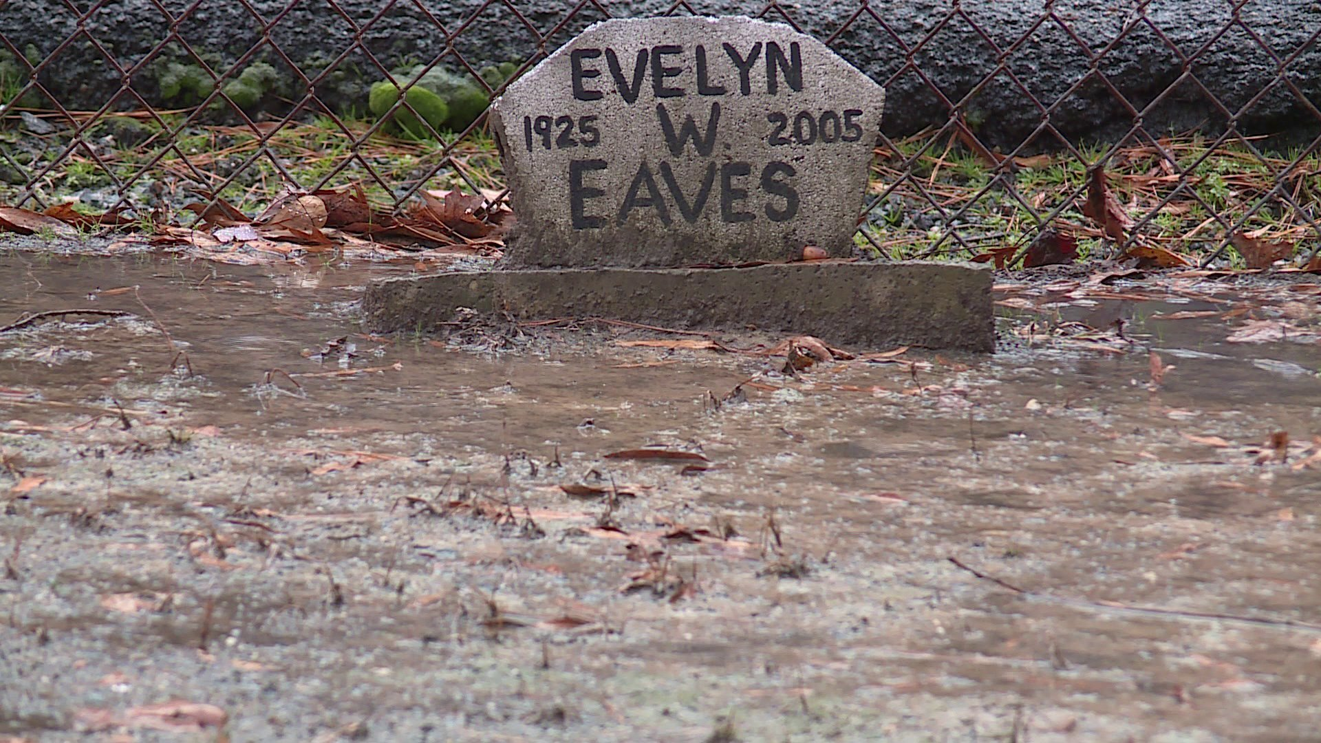 Photos: Man says 'simple solution' would stop century-old private cemetery from flooding
