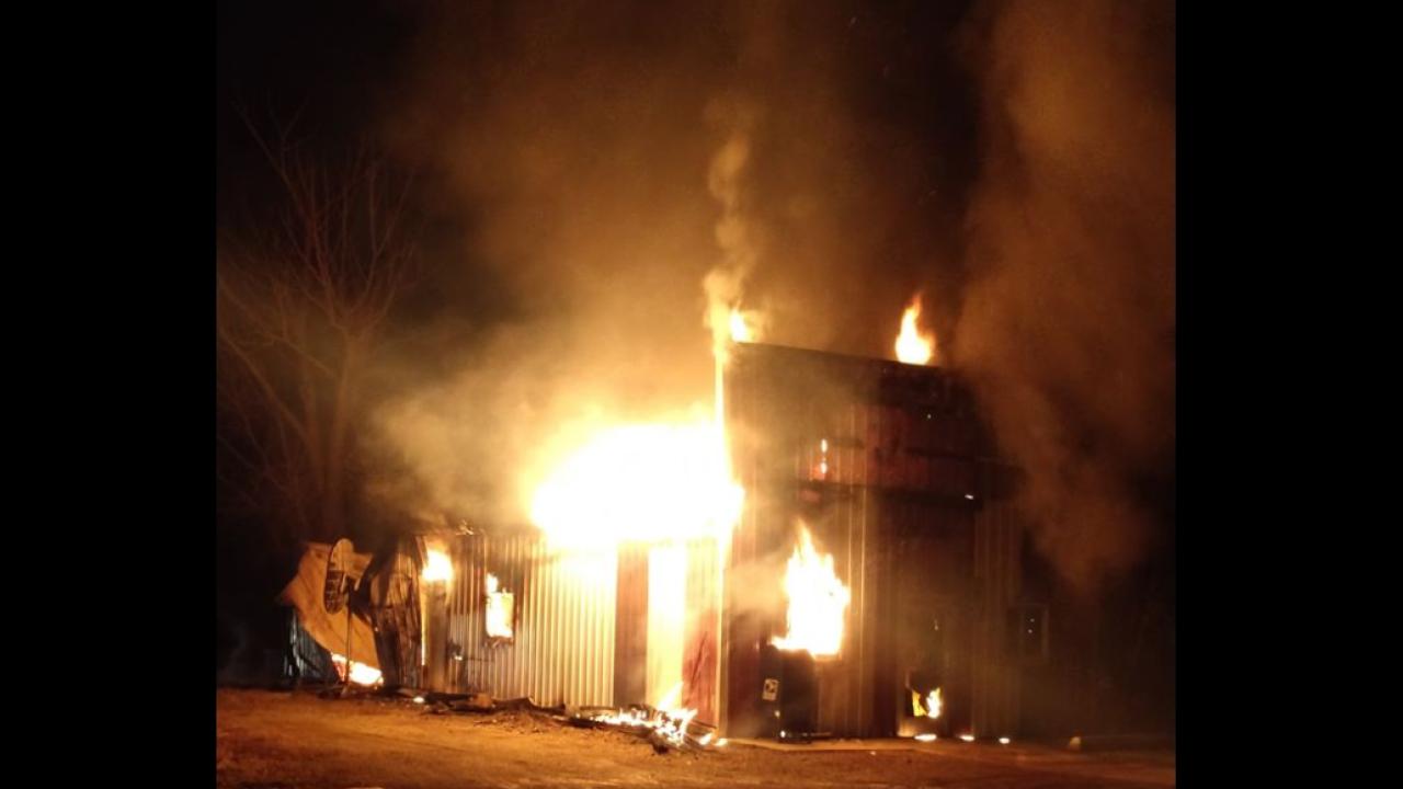 Fire destroys rural Montana post office