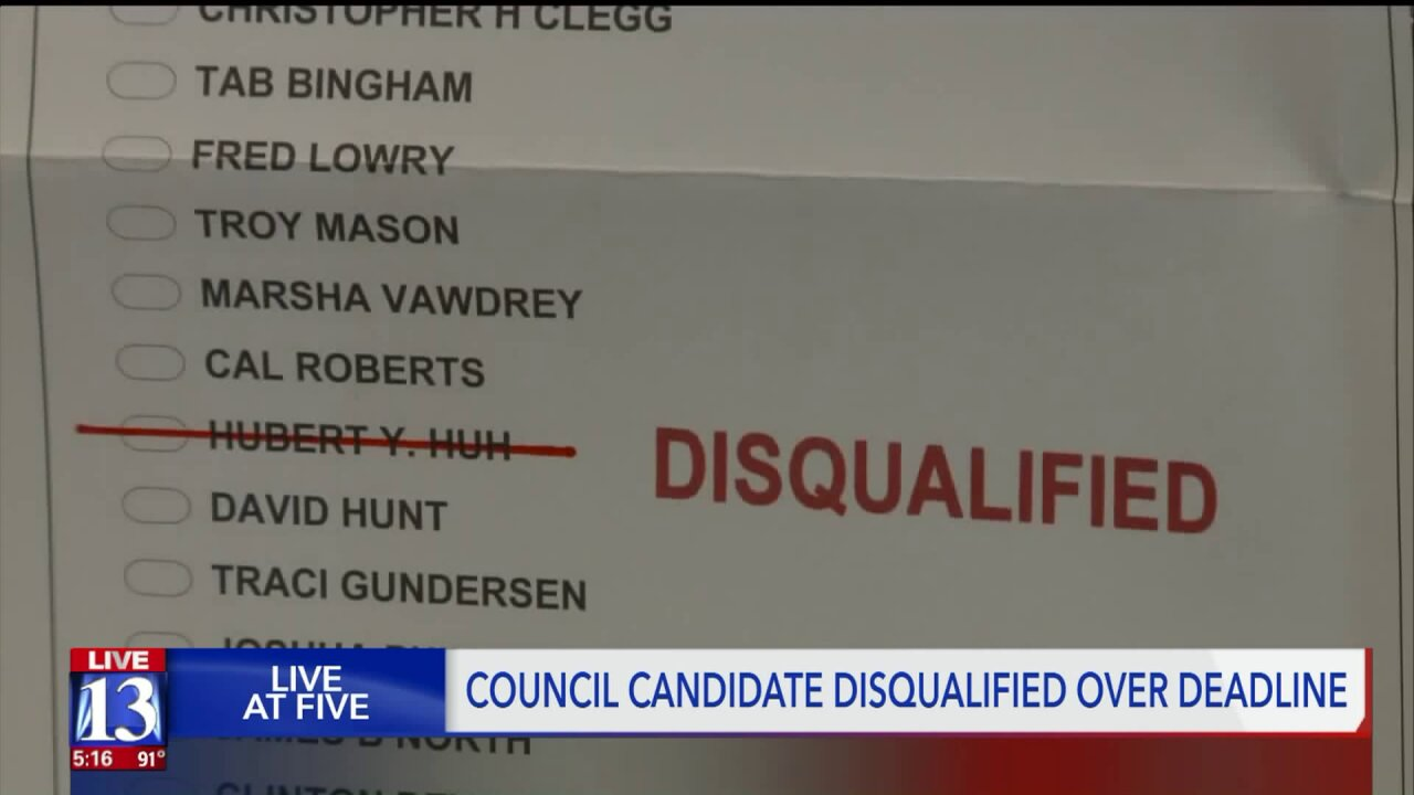 Draper City Council candidate disqualified for filing documents one minute late