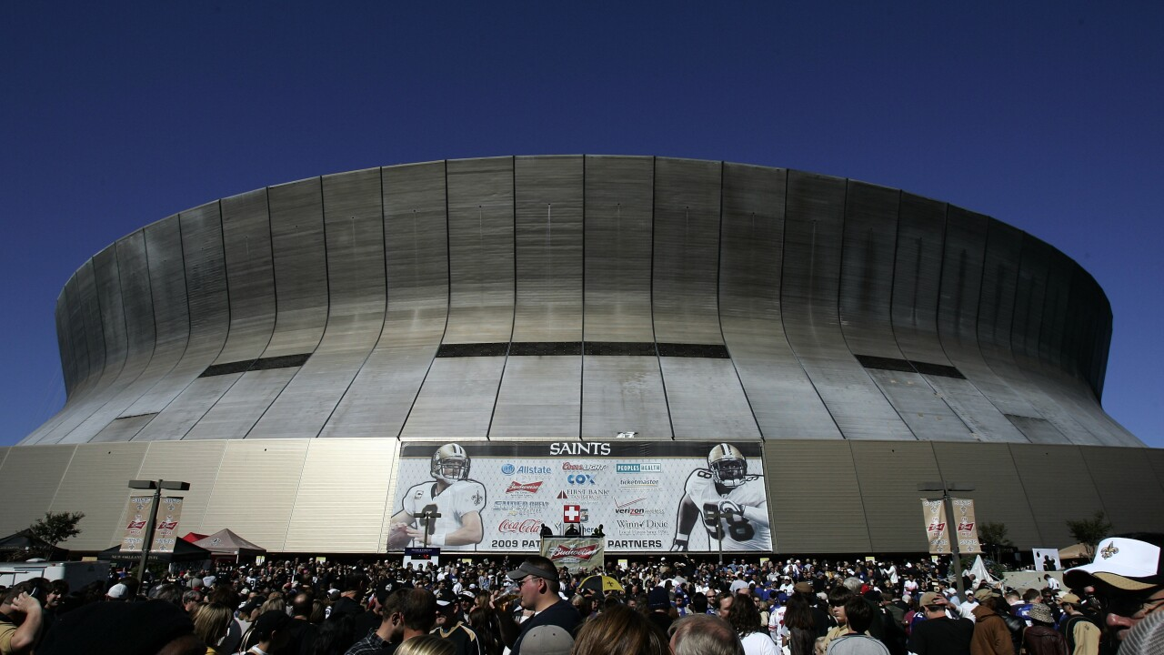 Kickoff for Saturday's preseason game between the Arizona Cardinals and the Saints at the Superdome has been moved up seven hours because of the potential for Tropical Storm Ida to hit the Louisiana coast as a strong hurricane by Sunday. AP photo.