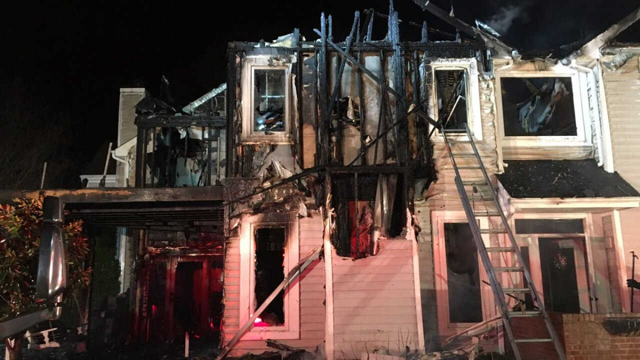 town house fire in 400 block of Martingale Lane in Arnold