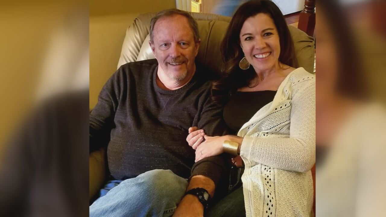 Katy Houston and her father