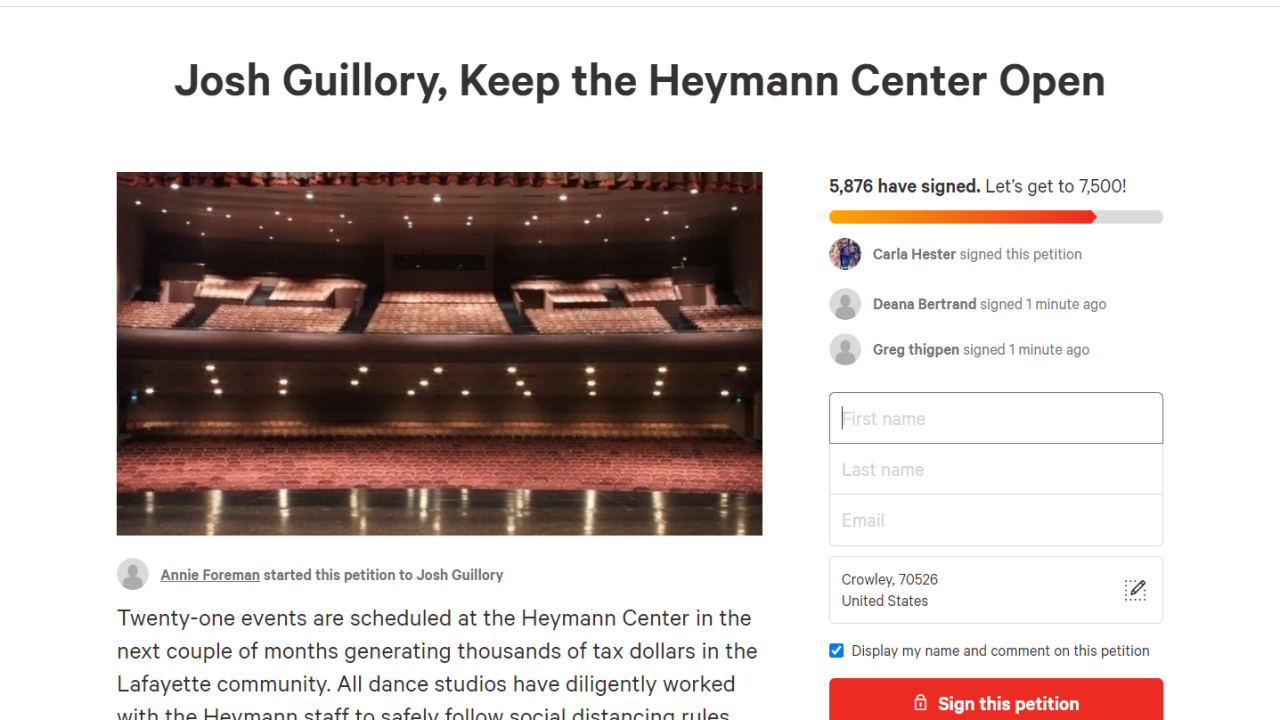 heymann center petition.PNG