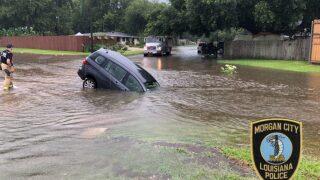 Morgan City experiencing major street flooding