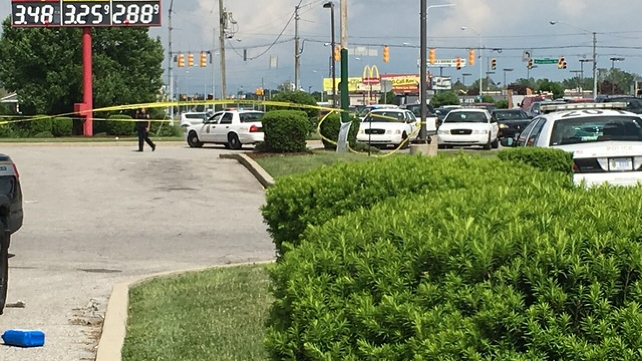 Two people shot at gas station on Indy's west si