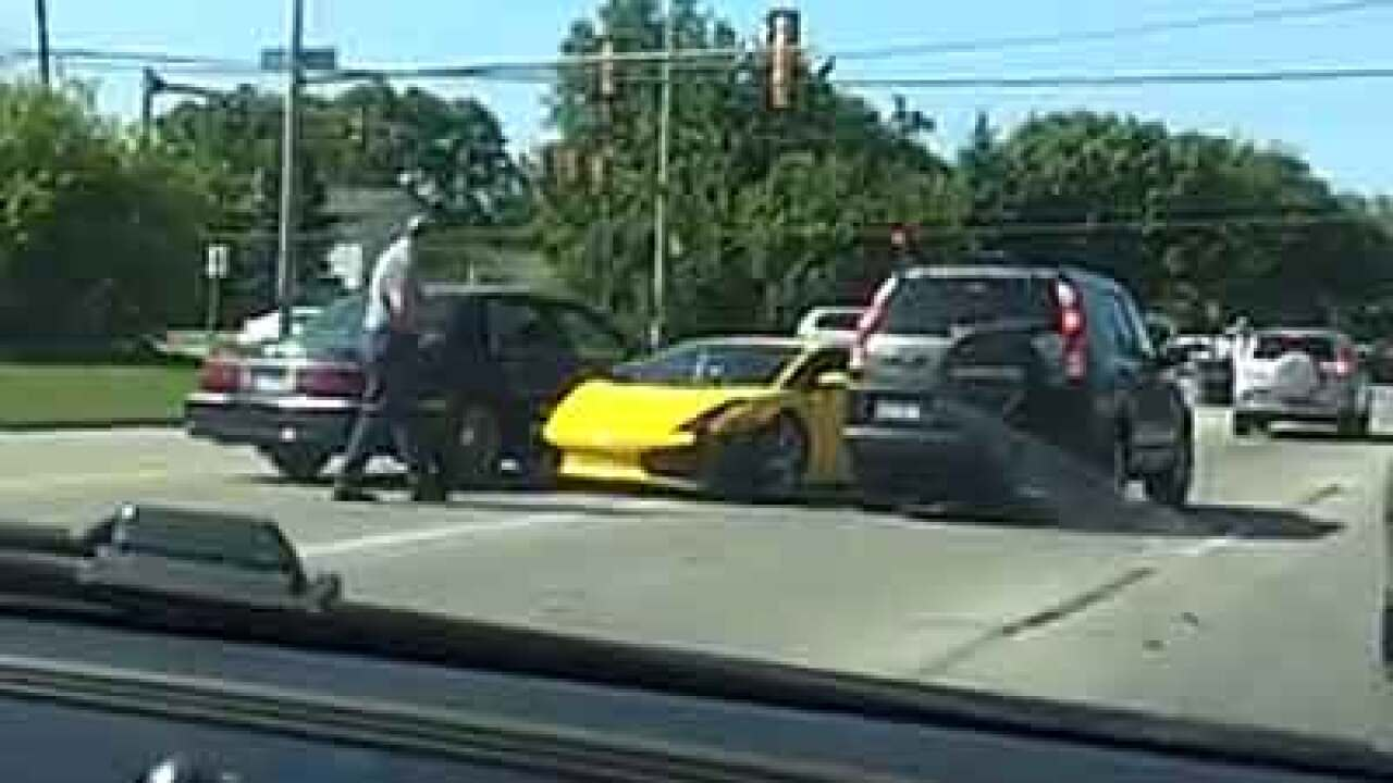 Video: Lamborghini crashes trying to race through turn