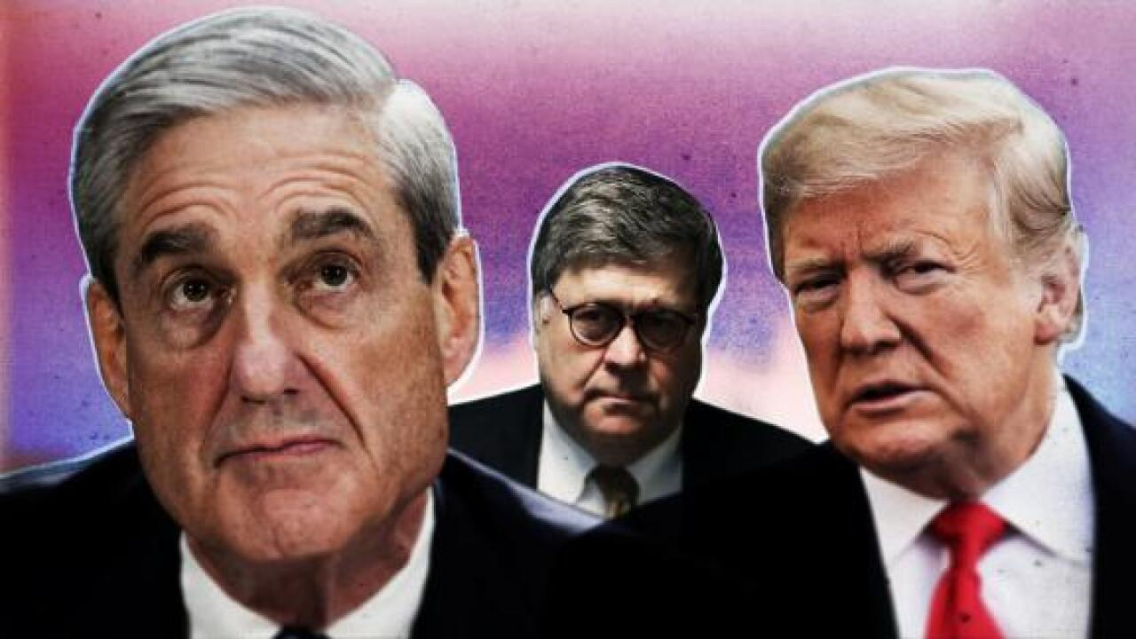 Barr says Mueller examined 10 instances of possible obstruction by Trump