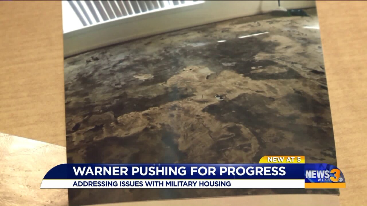 Sen. Mark Warner 'pretty damn disappointed' in Navy, execs response to military housing problems