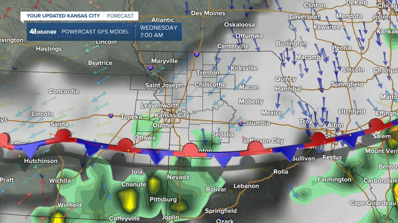 Surface Forecast 7 AM Wednesday