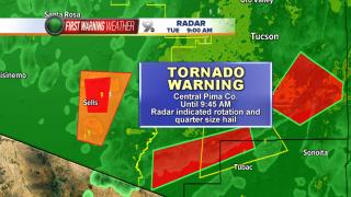 Tornado Warning Pima County