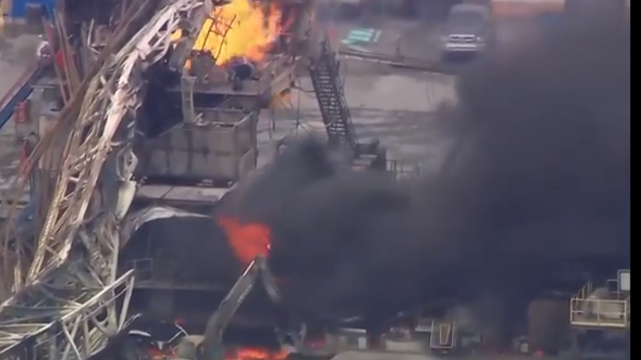 5 missing after oil rig explosion in Oklahoma