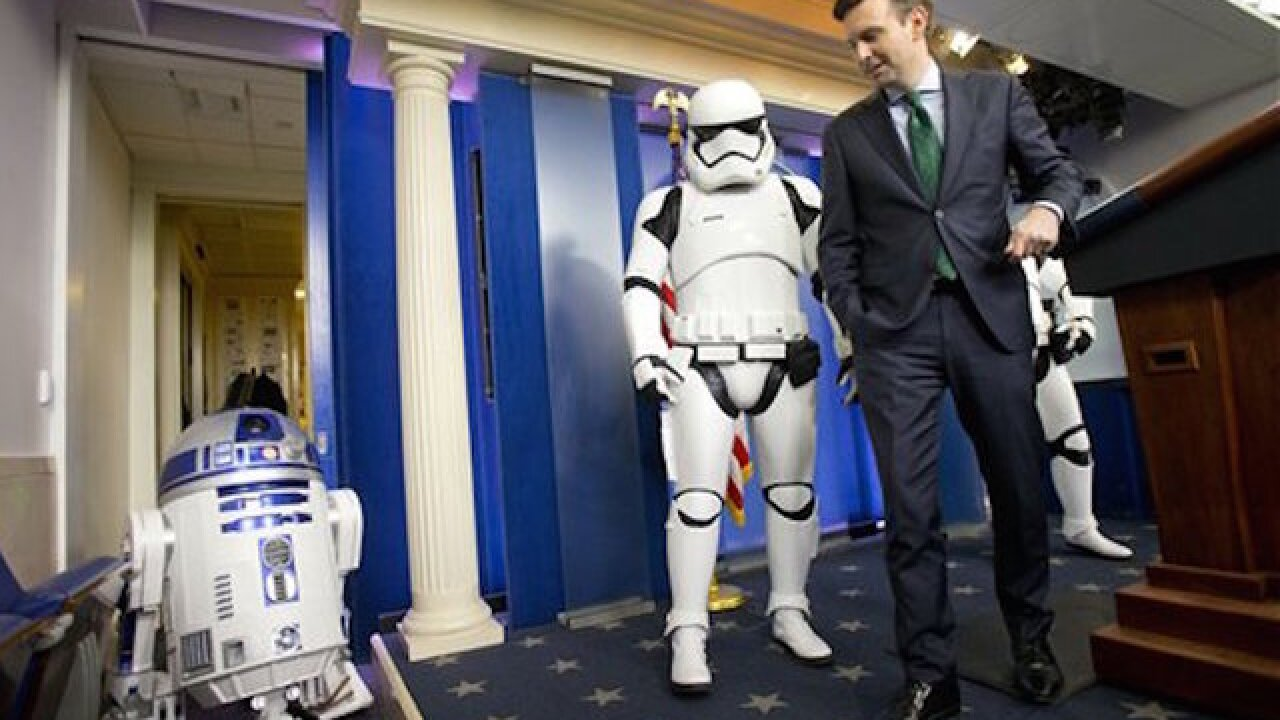 Star Wars mania comes to the White Houses