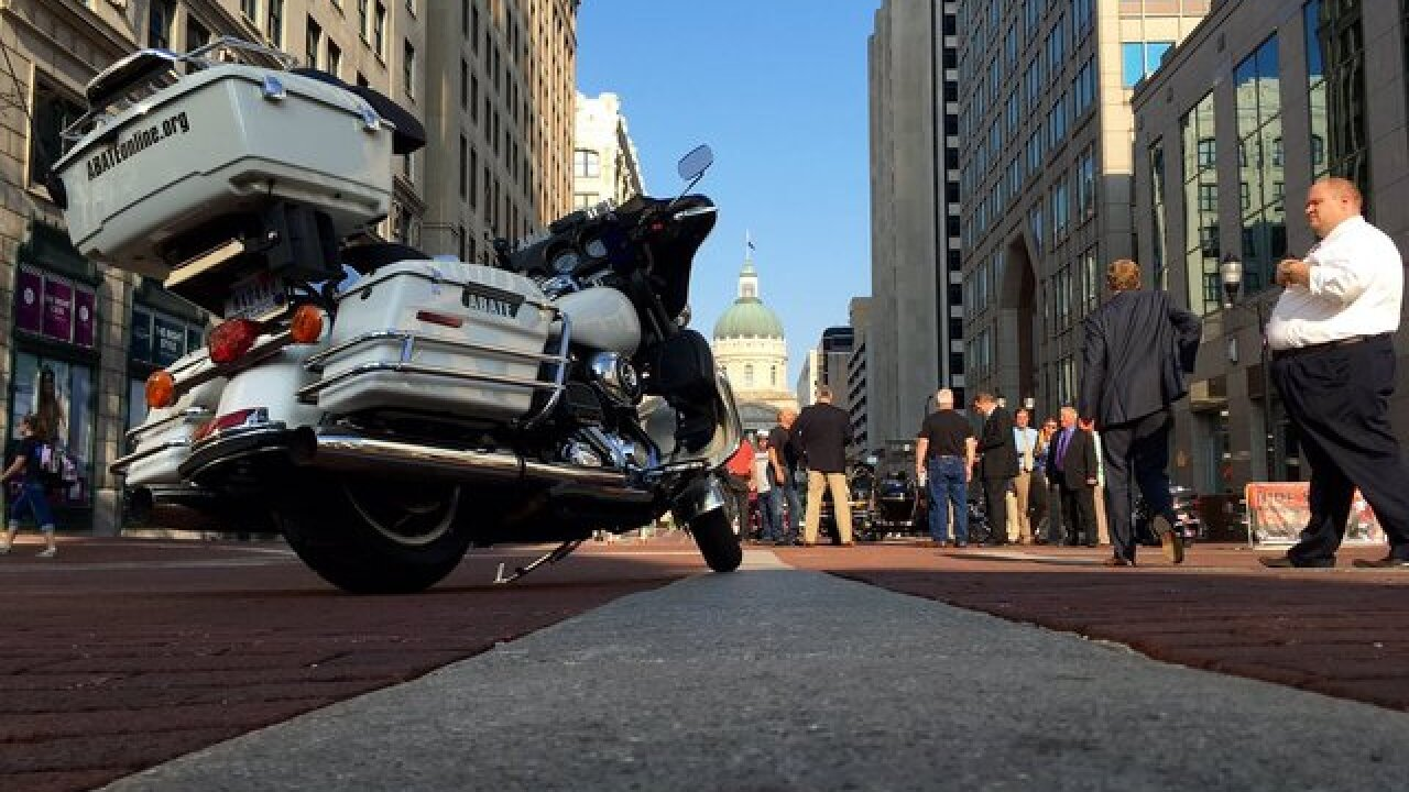 Gov. Pence gets on a Harley