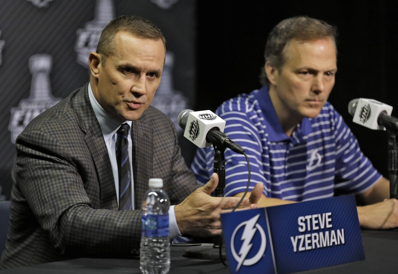 Steve Yzerman during his time with the Lightning