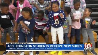 Making A Difference: 400 Lexington Students Receive New Shoes