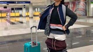 Airport clothes lady.JPG