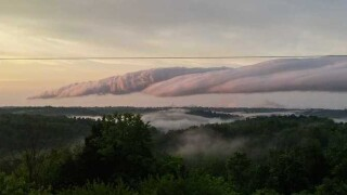 Roll clouds captured by drone
