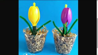 Craft Corner: Plastic SpoonFlowers
