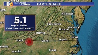 5.1 magnitude earthquake rattles Virginia, North Carolina