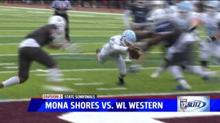 Brady Rose's five touchdown day leads Mona Shores to state finals