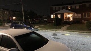 Man shot outside a home in Baltimore County Thursday night