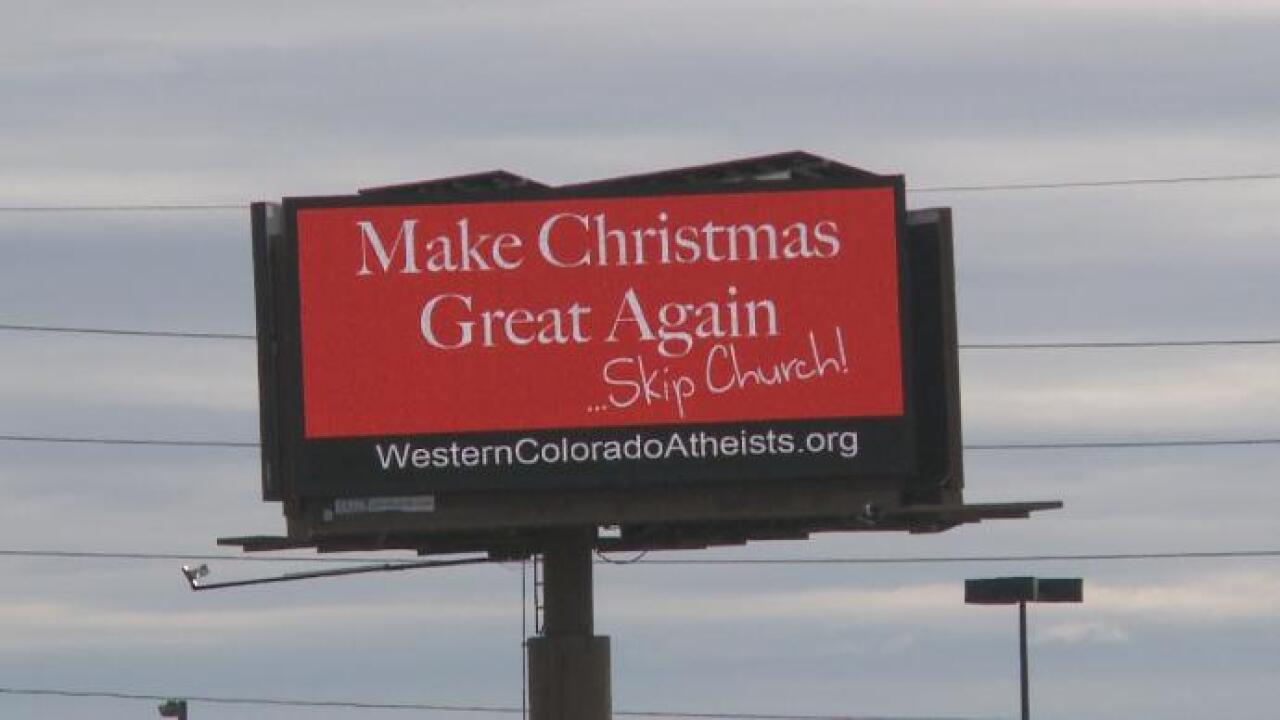 Atheist billboard about skipping church