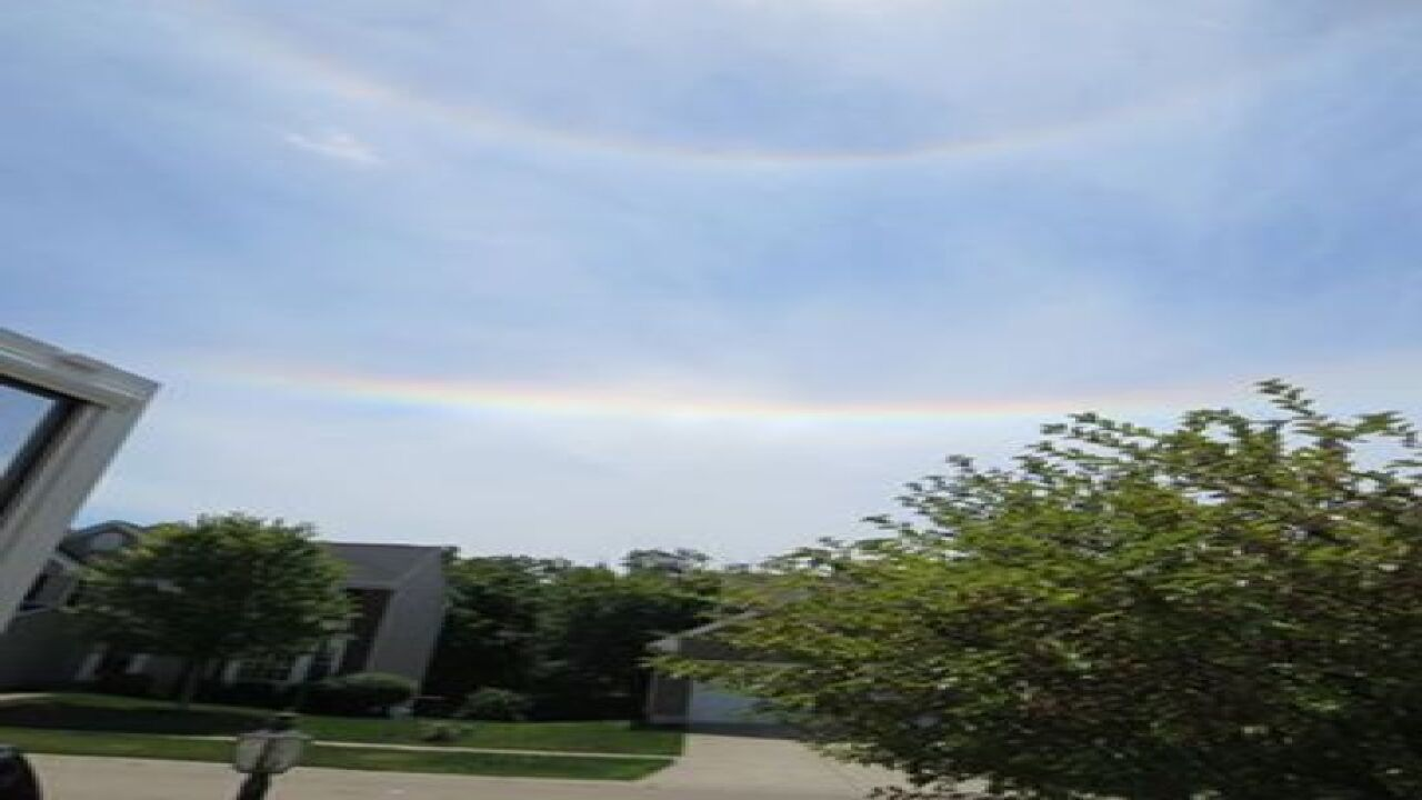 Upside-down rainbows below the sun?