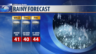 Warmer weather means rain and freezing rain for valleys