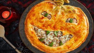 Jack-O'-Lantern Beef Pot Pie Is The Perfect Meal To Serve On Halloween