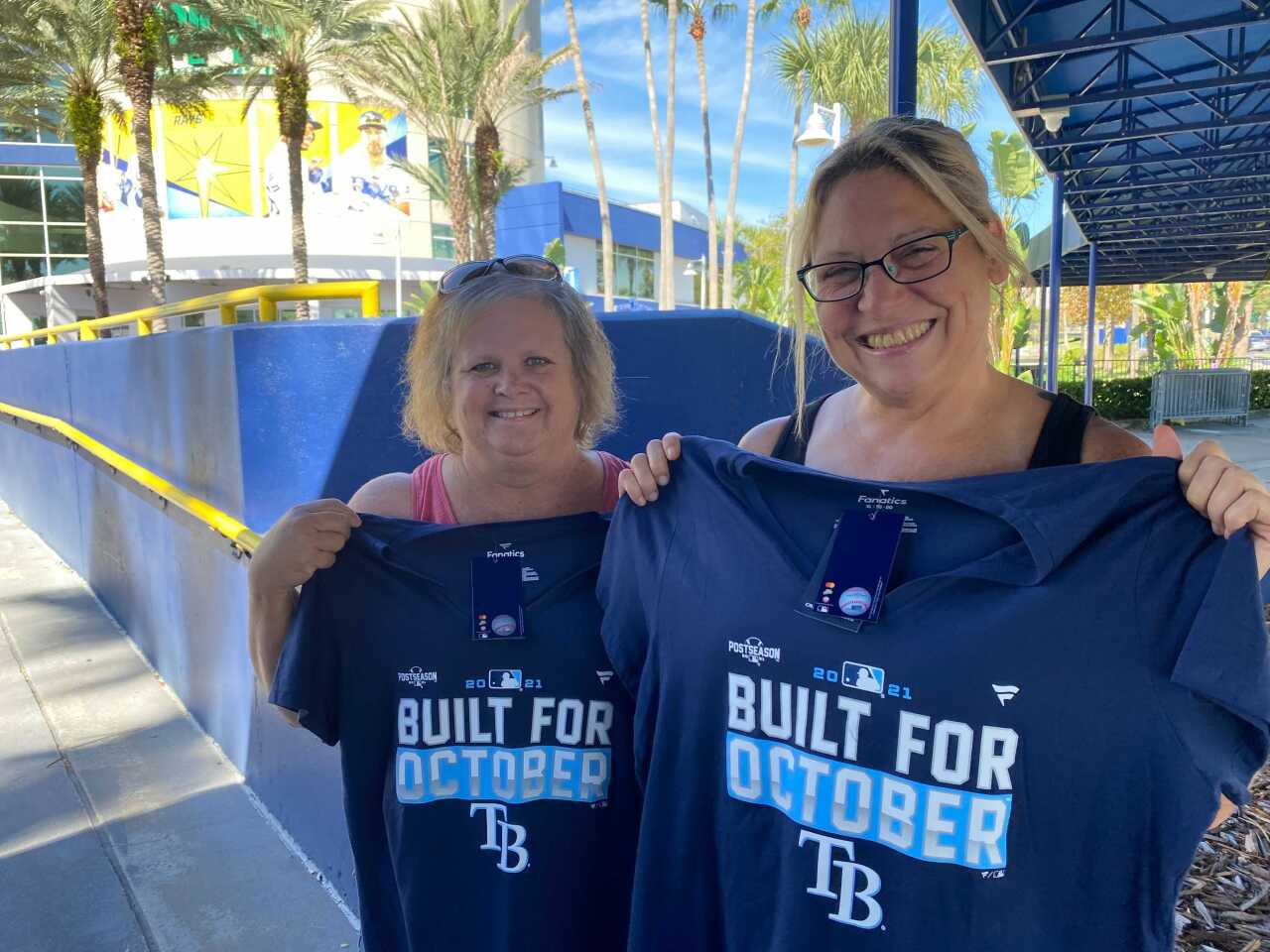 Fans buy gear ahead of the 2021 Tampa Bay Rays Playoff run