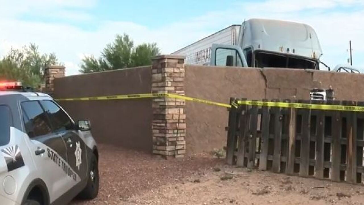 Semi crashes into home near I-10 and Kolb