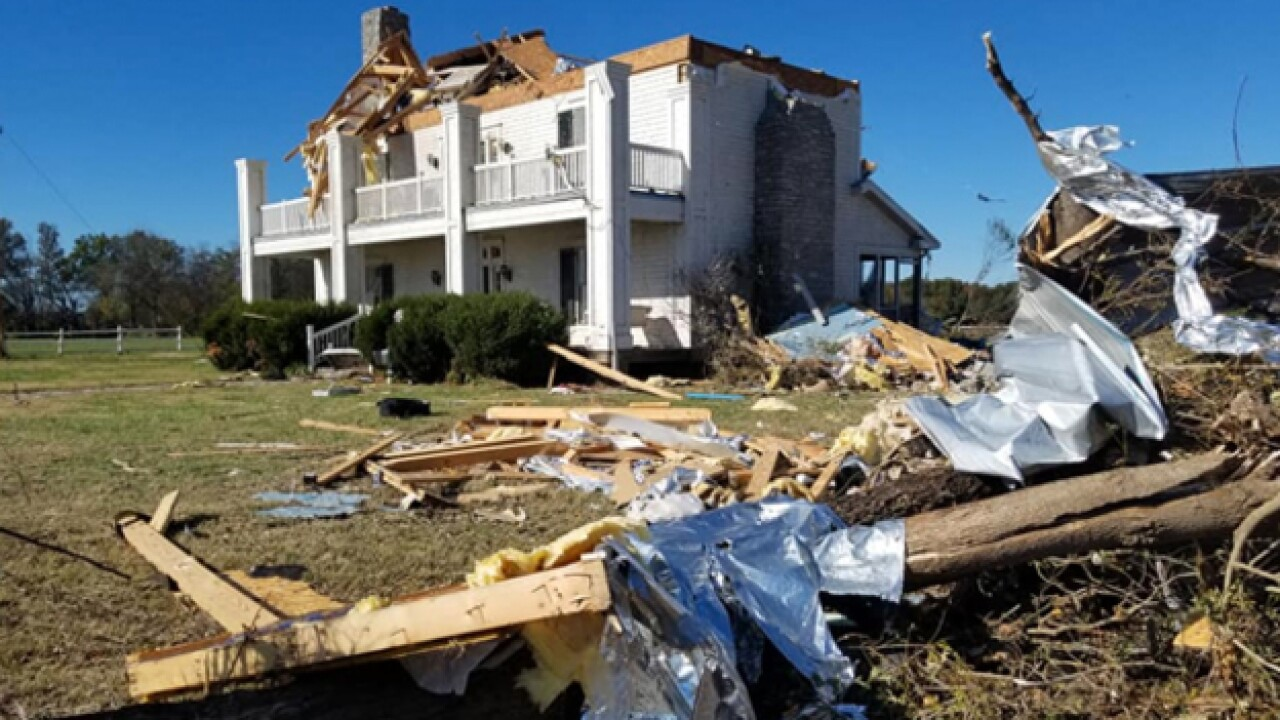 Family escapes Christiana tornado without injury; top ripped off home