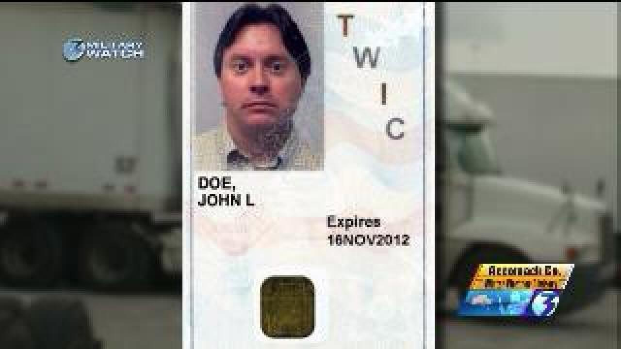 TWIC card allows civilians with criminal histories access to base